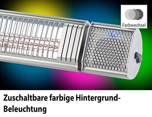 Semptec Terassen-Heizstrahler: 2er-Set Low-Glare-IR-Heizstrahler mit Bluetooth, Lautsprecher & App (Elektrischer Infrarot-Heizstrahler) - 3