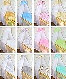 Himmel Vollstoff mit Himmelstange für Baby Kinder Bett Baumwolle Vollstoffhimmel D8