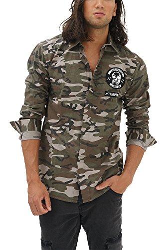 trueprodigy Casual Hombre Marca Camisa Basico Ropa Retro Vintage...