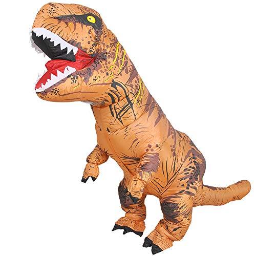 Aufblasbare Erwachsene Für Kostüm Dinosaurier - JASHKE Aufblasbarer T-Rex Dinosaurier Kostüm für Erwachsene Dress up Cosplay Kostüm Anzug Party Geschenk