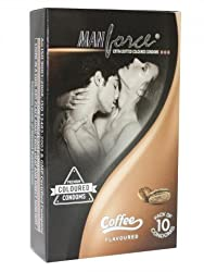 ManForce Extra Dotted Condoms - Coffee Flavor 10s