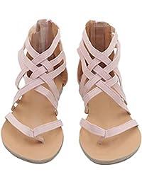 Amazon.es: Rosa Sandalias y chanclas Zapatos para mujer