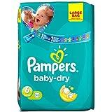 Couches Pampers Baby Dry taille 6Grand étui de 44par lot de 5