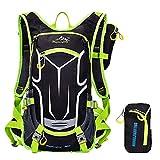 ZSbag Viaggio Zainetto Twin Set Uomo Borsa da Alpinismo Donna Backpack Nylon Grandi Borsone Campeggio Outdoor Zaino Impermeabile (verde)