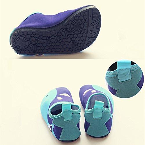 SAGUARO® Estate Scarpe da Acqua Spiaggia Rapida Asciugatura Scarpette da Nuotare Surf Ballo Yoga Antiscivolo Elastico bambino Blu