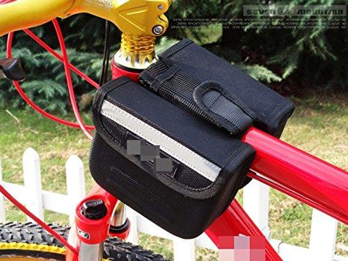OGTOPMountain Fahrradvordertasche Telefonbeutel Satteltasche Auf Harte Schale Black