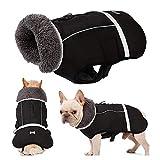 V.JUST Einstellbare Hund Kleidung Winter Wasserdichte Outdoor Hund Jacke verdicken warmen Mantel für kleine mittelgroße Hund,XXL