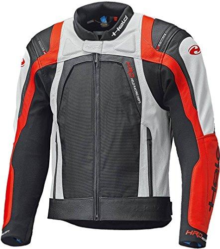 Preisvergleich Produktbild Held Hashiro II Motorrad Lederjacke Schwarz / Weiß / Rot 52