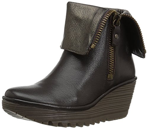 BOTIN FLY FLY LONDON P500668015 YEX668 CHOCOLATE 41 Braun (Fold Over Boot Ankle)