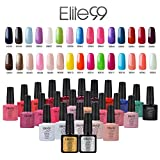 Elite99 UV Nagellack Gel Polish Farbgel Nagelgel Gellack Pure farben Geschenk NEU (10x7.3ML)