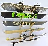 PRO Planche pour ski/snowboard à suspendre mural–Peut contenir 5planches