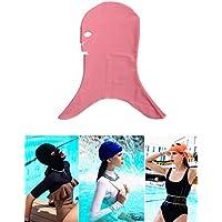 gzhouse Unisex adulto sol protección natación máscara anti medusas y Bug Biting Facekini máscara de buceo, rosa