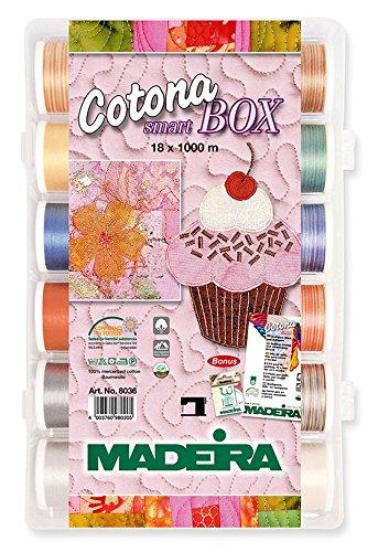 Madeira Cotona no. 50 Smart Box Maschinenstick- und Quiltgarn
