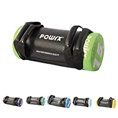 Idea Regalo - POWRX Sandbag 5 kg, 10 kg, 15 kg, 20 kg, 25 kg, 30 kg - Perfetta per migliorare equilibrio, forza, flessibilità, coordinazione e circolazione - Power Bag (15 kg/Verde chiaro)