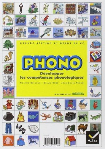 Phono Grande section maternelle et début du CP : Développer les compétences phonologiques de Sylvie Cèbe (22 novembre 2004) Broché
