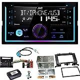 JVC KW-R930BT Bluetooth USB CD Aux MP3 Autoradio Einbauset für Mercedes Sprinter W906 Crafter