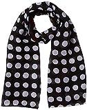 s.Oliver Damen Schal 39.901.91.4847, Grau (Grey/Black AOP 99b2), One Size (Herstellergröße: 1)
