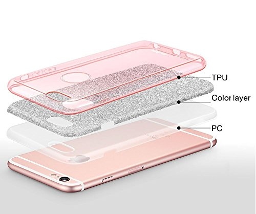 3in1 Cas De Paillettes Iphone - or, Iphone 6/6S or