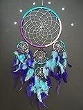large dream catcher purple pink turquoise dreamcatcher
