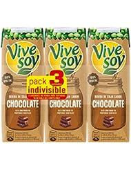 Vivesoy Bebida de Soja Chocolate - Paquete de 3 x 25 cl - Total: 0