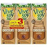 Vivesoy Bebida de Soja Chocolate - Paquete de 3 x 25 cl - Total: 0,75 l