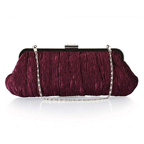 ERGEOB® Donna Clutch sacchetto di sera borsetta Clutch piccola rasotaschino Banchetto taschino porpora