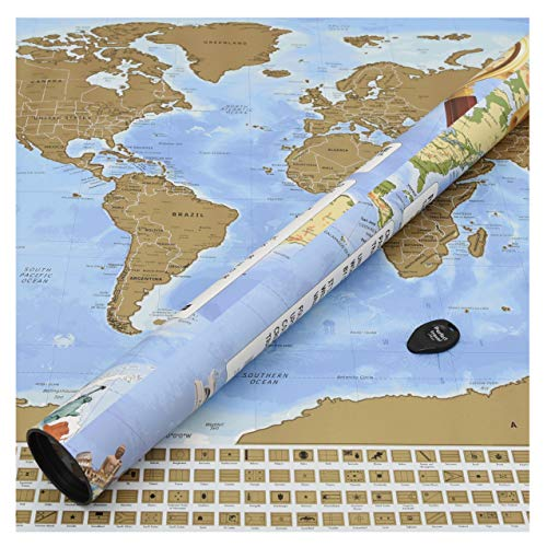 (Perfect Travel Map - wunderschöne XXL Rubbel-Weltkarte, Weltenbummler, Globetrotter, Urlauber, Backpacker oder Sprachschüler (Poster: 83,6 x 60,5cm))