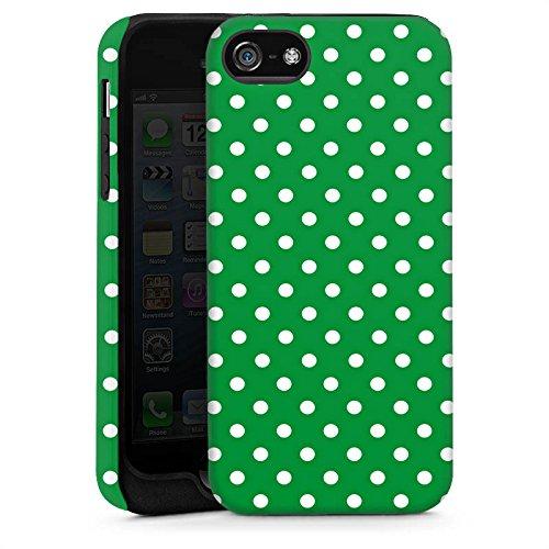 Apple iPhone 5 Housse étui coque protection Motif Motif Polka points Cas Tough brillant