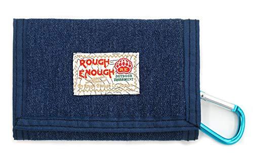 Rough Enough - Cartera de lona, diseño vintage de tejido vaquero