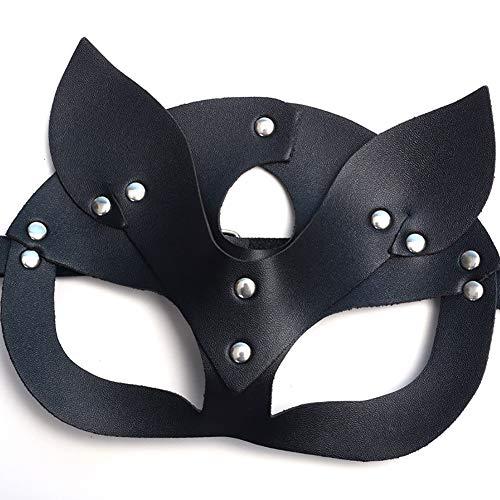 Kostüm Für Erwachsene Billig Sexy - Maskerade Maske Frauen Männer Halbes Gesicht Cosplay Sexy Black Cat Eye Maske für Kostüm Weihnachten Halloween Party Masken