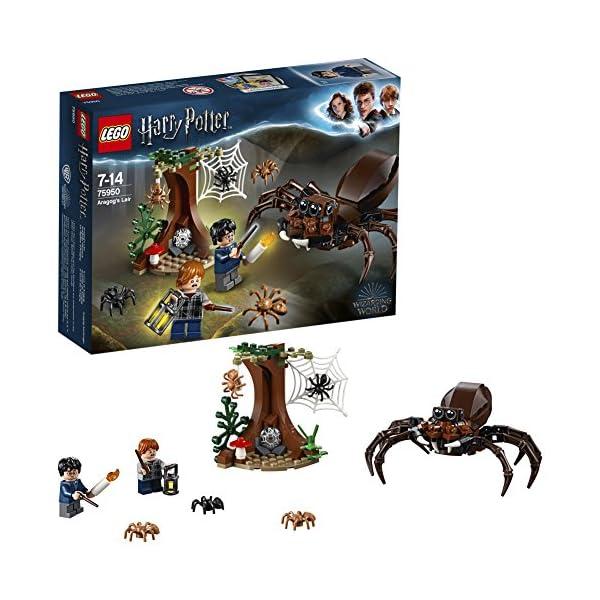 LEGO Harry Potter - Guarida de Aragog, Juguete de Construcción de Aventuras Basado en la Película (75950) 1