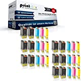30x kompatible Tintenpatronen für Epson Workforce 525 Workforce 630 Workforce WF 3010 DW WF 3520 DWF WF 3530 DTWF WF 3540 DTWF Black Cyan Magenta Yellow Sparset C13 T1301 C13 T1302 C13 T1303 C13 T1305 - Office Quantum Serie