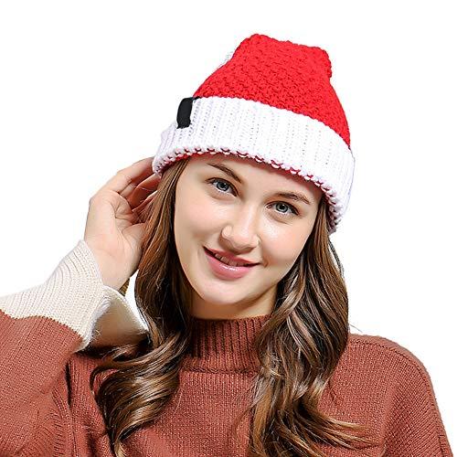Leezo Weihnachtsmann Mütze Mode Niedlichen Weihnachten Stil Gestrickte Männer Frauen Beanie Hut Warme Mütze Geschenk Party Decor Kostüm