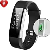Bracelet Sport Activité Montre Connectée Avec GPS, NickSea Etanche IP67 Fitness Tracker d'Activité Bluetooth avec Cardiofréquencemètres, Podomètre, Calorie, SMS, Smart Warch pour IOS et Android - Noir