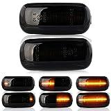 2 X LED Blinker Seitenblinker Blinkleuchte Dynamisch Laufblinker Kotflügel-Blinker mit E-Prüfzeichen V-170812LG