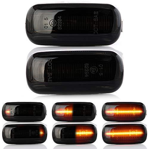 2 x intermitentes laterales LED intermitentes dinámicos intermitentes de carrera intermitentes con certificado E V-170812LG