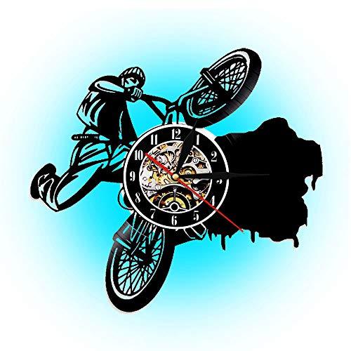 Hulinlian 1 Fahrrad BMX Sport Uhr geländewagen Track Rahmen Vinyl Rekord wanduhr Fahrrad wandkunst Dekoration Wohnzimmer