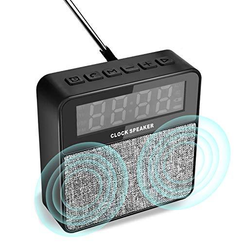 Bluetooth Lautsprecher Wireless FM Radio Wecker Lautsprecher 4.0 mit Mikrofon Unterstützen TF-Karte U-Disk und AUX-Eingang für Samsung iPhone Huawei ipad