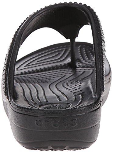 Crocs Sloanedmnteflp, Sandales avec plateau et talon compensé femme Noir (Black)