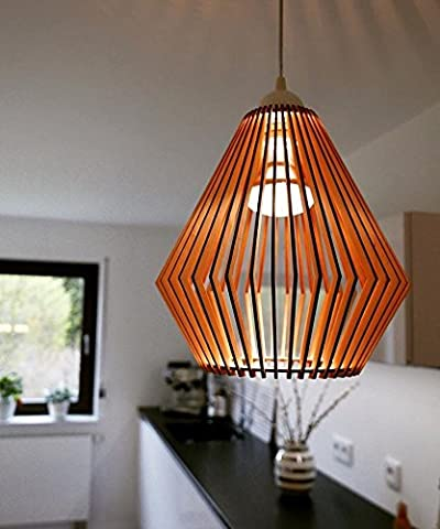 Wood Lamp/ Wooden Lamp/ Modern Wooden Ceiling Lamp/ Small Classic