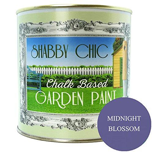 Midnight Blossom Shabby Chic a base di gesso-Vernice da giardino, 1l