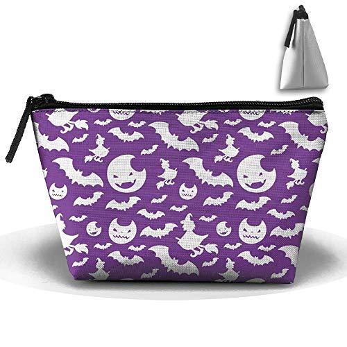 Purpurrotes tragbares Make-up Holloween empfangen Taschen-Speicherkapazitäts-Taschen für Reise mit hängendem Reißverschluss