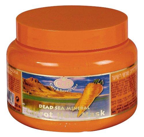 C & B Mer Morte Carotte Cheveux Masque 250 ml/238,1 gram Traitement Soin Spa Israël minéral NEUF