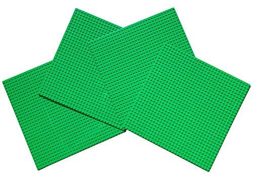 Papi Max 4PCS Platte groß grün Baustelle 32x32 noppen grundplatte 25.5 cm x 25.5 cm - Platte Bau Graue Lego