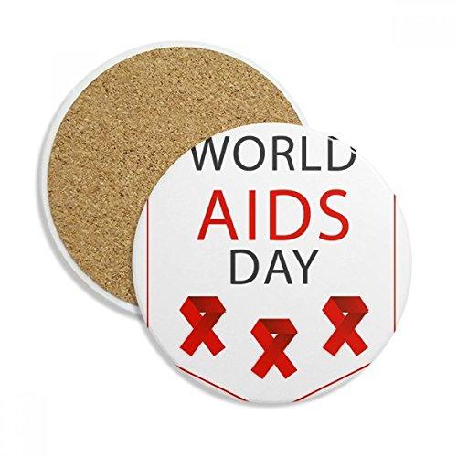 Aids-Tag-HIV Bewusstsein Stein Drink Keramik Untersetzer für Tasse Geschenk 2 -