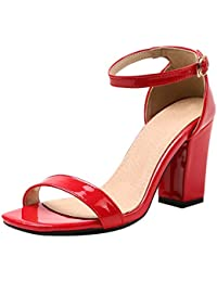 JOJONUNU Damen Blockabsatz Sandalen 8 Colors