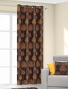 140x245 braun + orange Vorhang Vorhänge Gardine Ösenschal schokolade brown Baummotiv choco chocolate GEMINI