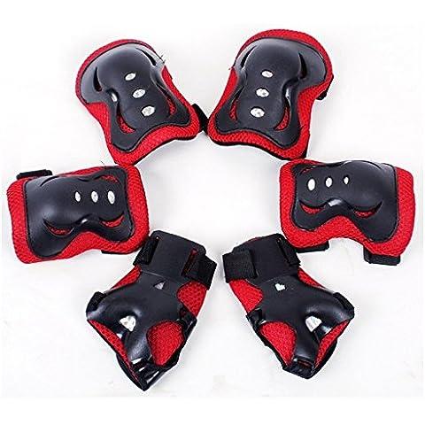 Liquniz-Set di 6 attrezzi per bambini, per pattinaggio, ginocchia e