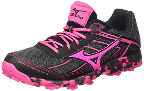 Mizuno Wave Hayate (w), Zapatillas de Running para Mujer, (Dark Shadow/Pink Glow/Black),...