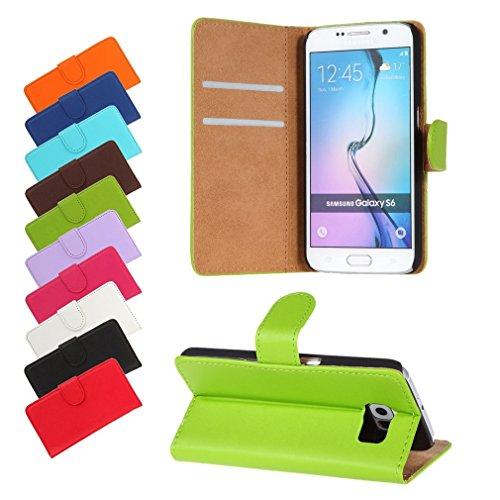 BRALEXX A12633 Bookstyle Tasche für Samsung Galaxy S6 920F grün